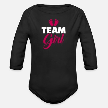 Baby Shower Team girl - Organic Long-Sleeved Baby Bodysuit