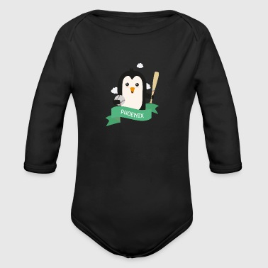 Baseball Penguin from PHOENIX S1v13x - Long Sleeve Baby Bodysuit