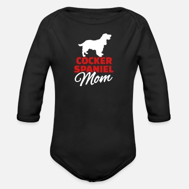 Cocker Spaniel Mom Cocker Spaniel - Organic Long-Sleeved Baby Bodysuit