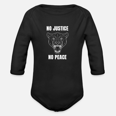 No Justice No Peace - Organic Long-Sleeved Baby Bodysuit