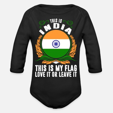 India This Is India - Organic Long-Sleeved Baby Bodysuit