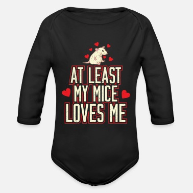 Mouse adorable mouse - Organic Long-Sleeved Baby Bodysuit