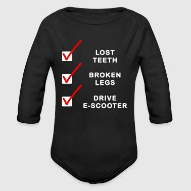 Scooter E Scooter scootering Scooter riding - Organic Long Sleeve Baby Bodysuit