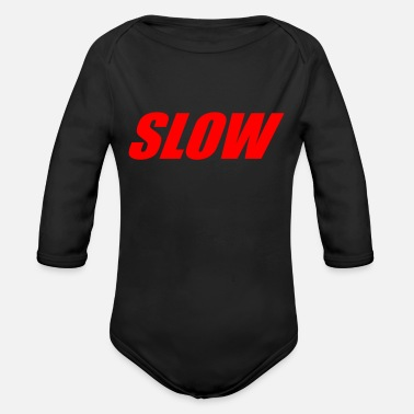 Slow SLOW - Organic Long-Sleeved Baby Bodysuit