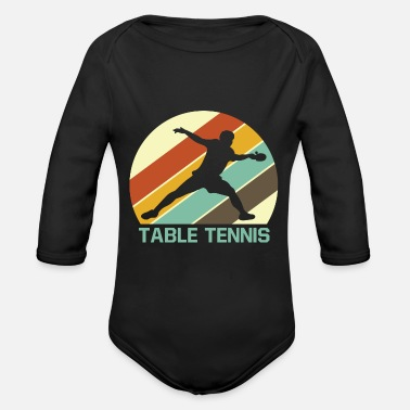 Table Tennis Table tennis - Organic Long Sleeve Baby Bodysuit