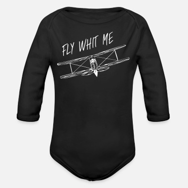 Whit Fly whit me - Organic Long-Sleeved Baby Bodysuit