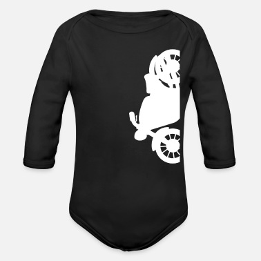 Motor Race Motorcycle gift for Biker - Organic Long-Sleeved Baby Bodysuit