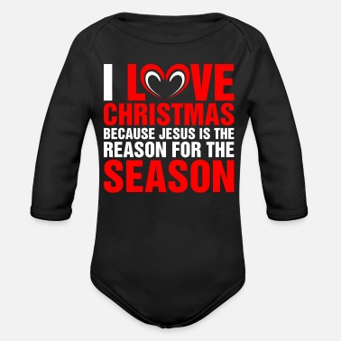 Christmas Season I Love Christmas Season - Organic Long-Sleeved Baby Bodysuit