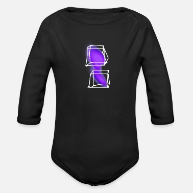 Transparent transparent purple - Organic Long-Sleeved Baby Bodysuit