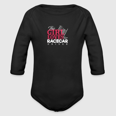 Loves Her Race car Driver - Racing - Total Basics - Organic Long Sleeve Baby Bodysuit