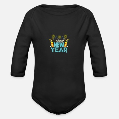 New Year Newyear - Organic Long-Sleeved Baby Bodysuit