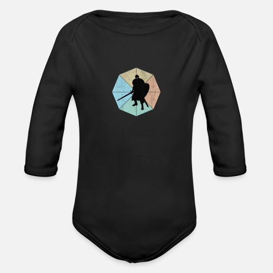Knight's Cross Baby Clothing - Knight - Organic Long-Sleeved Baby Bodysuit black