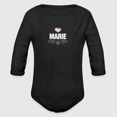 Marie, Love, Heart, Baby, Girl, Birthday, Presents - Long Sleeve Baby Bodysuit