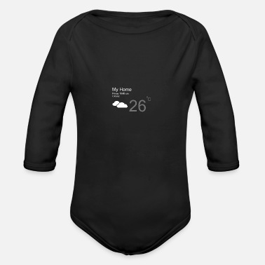 Weather cloudy - Organic Long-Sleeved Baby Bodysuit