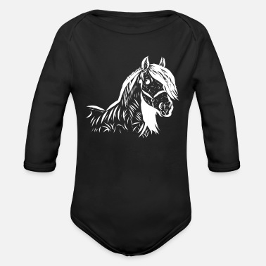 Horse Horse - Organic Long-Sleeved Baby Bodysuit