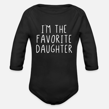 Im The Favorite I´m the favorite daughter - Organic Long-Sleeved Baby Bodysuit