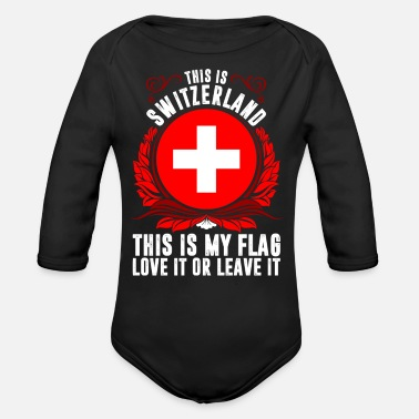 Switzerland This Is Switzerland - Organic Long Sleeve Baby Bodysuit