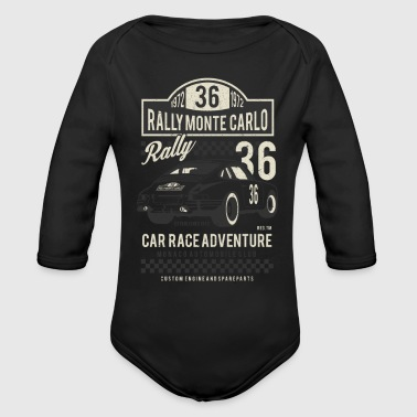 Car Race Rally Monte Carlo - Organic Long Sleeve Baby Bodysuit
