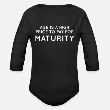 Mature Maturity - Organic Long-Sleeved Baby Bodysuit