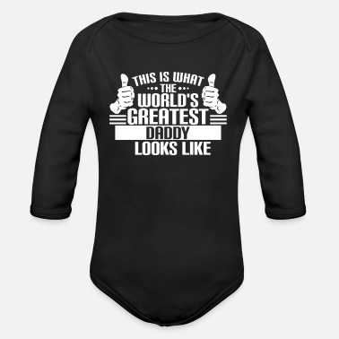Best Daddy The World's Best Daddy - Organic Long-Sleeved Baby Bodysuit