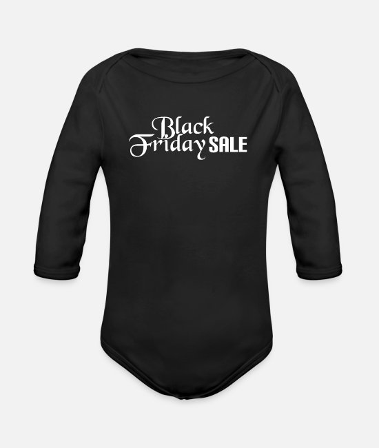 Sale Baby One Pieces - Black Friday Sale - Organic Long-Sleeved Baby Bodysuit black