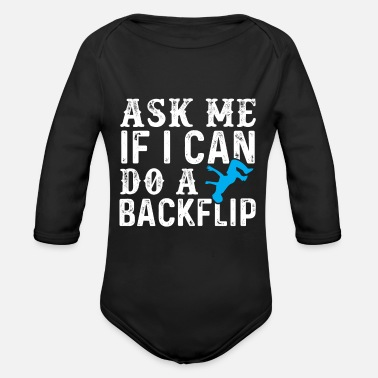 Backflip Parkour Backflip - Organic Long-Sleeved Baby Bodysuit
