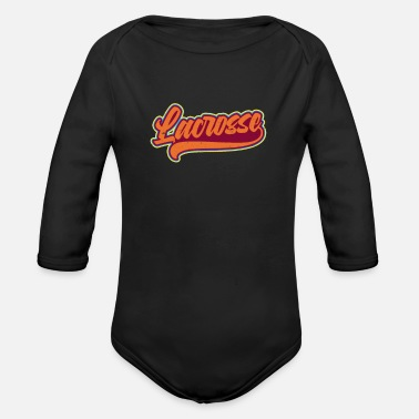 Support LAX Vintage Retro Font Gift - Organic Long-Sleeved Baby Bodysuit