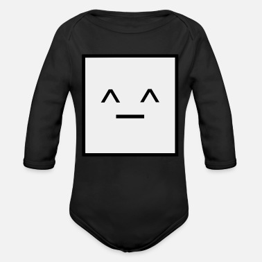 Square Square, it is a Square- Geometric Square happy - Organic Long-Sleeved Baby Bodysuit