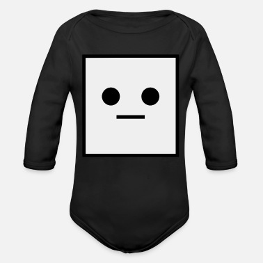 Square 962 Square it is a Square Geometric Square - Organic Long-Sleeved Baby Bodysuit