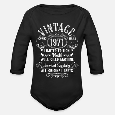 Vintage Bi Lgbt Vintage 1971 50th Birthday Giftbirthday50th50th bi - Organic Long-Sleeved Baby Bodysuit