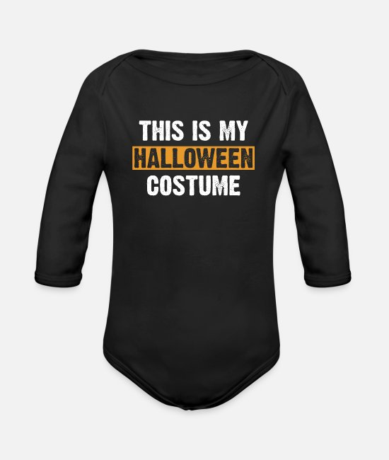 Halloween Costume Baby One Pieces - Funny Halloween Costume - Organic Long-Sleeved Baby Bodysuit black