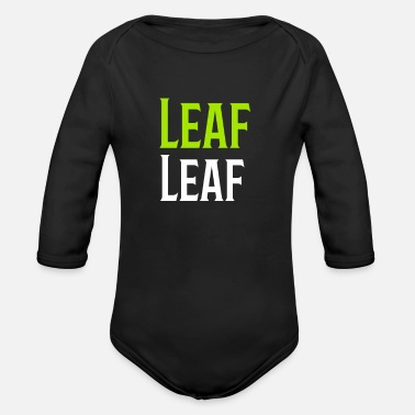 Leaf Leaf Leafs - Organic Long-Sleeved Baby Bodysuit