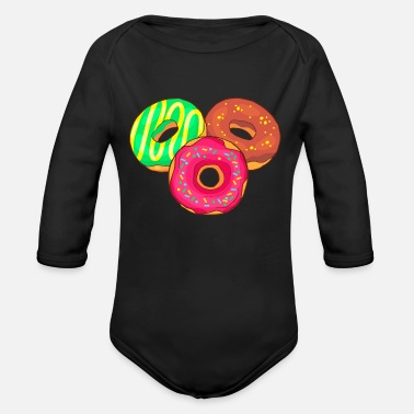 Confiserie Donuts Bakery Cookie Candy Sweets Cake Confiserie - Organic Long-Sleeved Baby Bodysuit