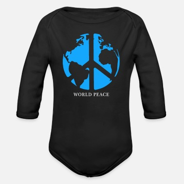 Peace Movement Peace Peace Symbol Peace Movement Peace Maker Gift - Organic Long-Sleeved Baby Bodysuit