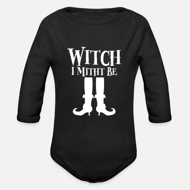Witch Witch Witches - Organic Long-Sleeved Baby Bodysuit