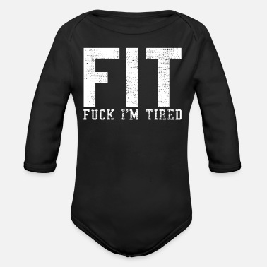 Fitted Fit fitness joke - Organic Long-Sleeved Baby Bodysuit