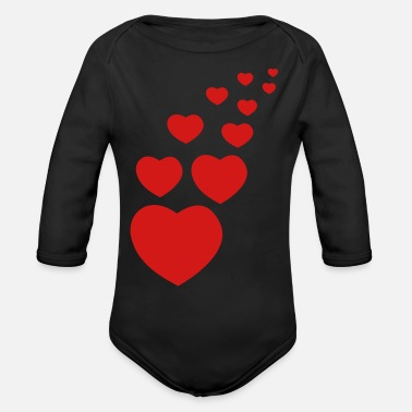 Affeto heart - Organic Long-Sleeved Baby Bodysuit