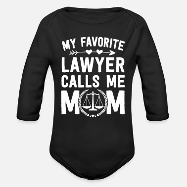 Law School Graduation Favorite Lawyer Mom - Organic Long-Sleeved Baby Bodysuit