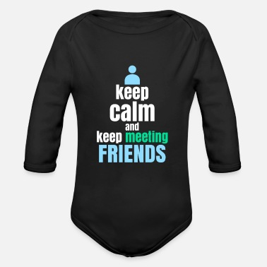 Meeting Meeting Friends - Organic Long-Sleeved Baby Bodysuit