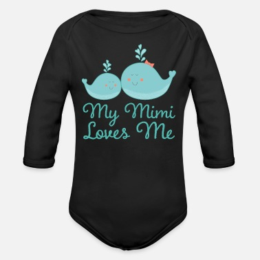 Mimi Mimi Loves Me Grandchild Whale - Organic Long-Sleeved Baby Bodysuit
