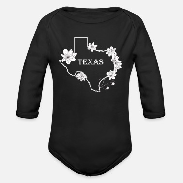 Floral Texas - Organic Long-Sleeved Baby Bodysuit