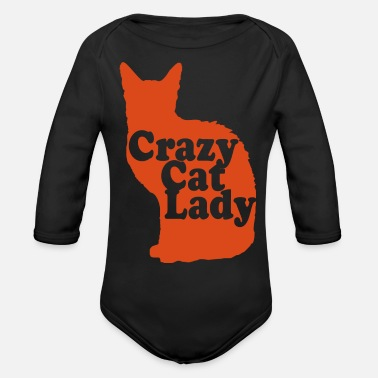 Crazy Cat Lady Crazy Cat Lady - Organic Long-Sleeved Baby Bodysuit