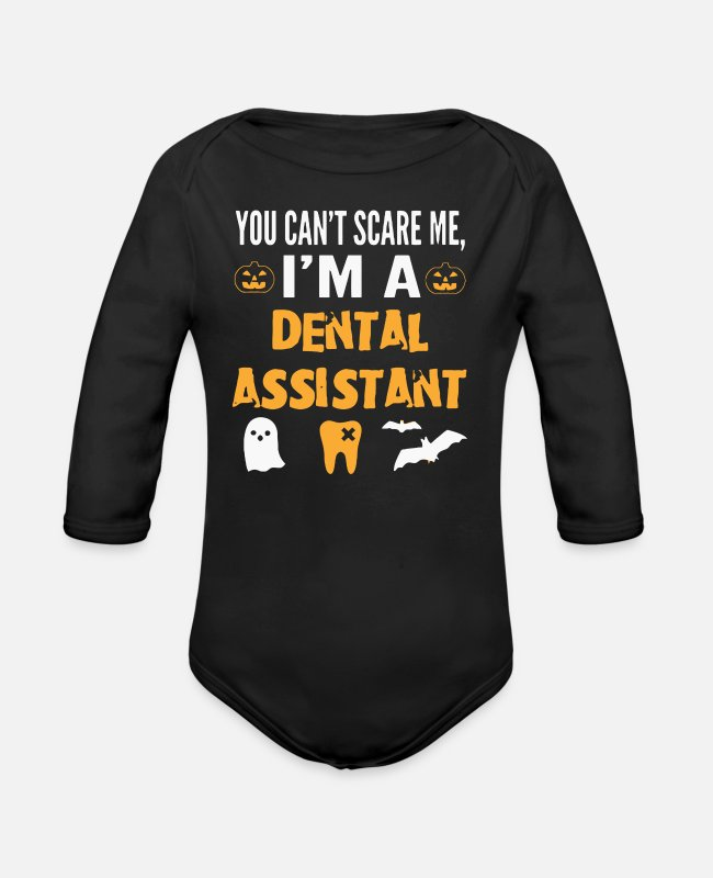 Movie Baby One Pieces - Dental Assistant - Organic Long-Sleeved Baby Bodysuit black