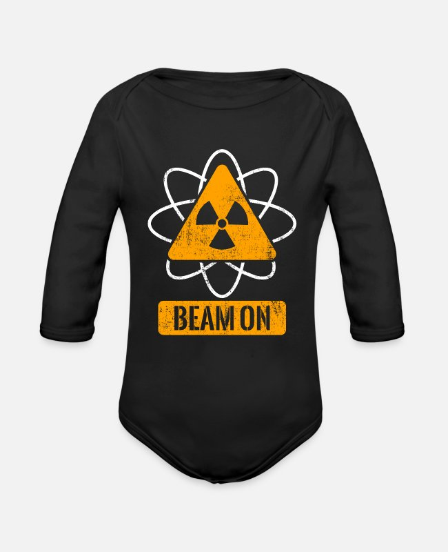 Cancer Survivor Baby One Pieces - Beam On - Organic Long-Sleeved Baby Bodysuit black