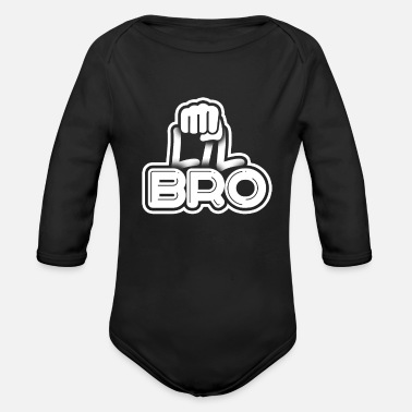 Brother Little Brother - Organic Long-Sleeved Baby Bodysuit