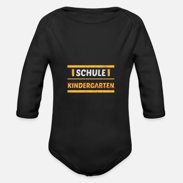 First School Kindergarten Orstschild Enrolment - Organic Long-Sleeved Baby Bodysuit