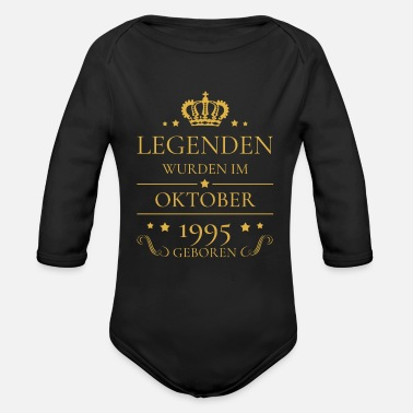 October Born Birthday Volume October 1995 Legends Gift - Organic Long-Sleeved Baby Bodysuit