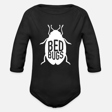 Bed Bed Bugs - Organic Long Sleeve Baby Bodysuit