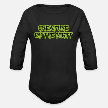 Creature CREATURE OF THE NIGHT - Organic Long-Sleeved Baby Bodysuit