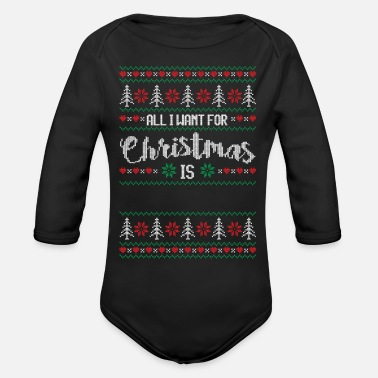 Allergy all i want for christmas - Organic Long-Sleeved Baby Bodysuit